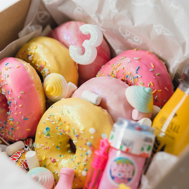 Cumpleaños donuts kids